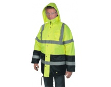 Reflexní bunda OXFORD zimní, žlutá