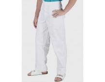 Bílé kalhoty pánské, pevný pas