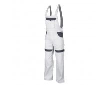Pracovní kalhoty s laclem COOL TREND bílo-šedé
