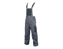 Pracovní kalhoty 4TECH s laclem šedé