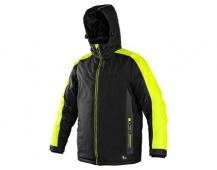 Pracovní zimní bunda BRIGHTON černo/žlutá