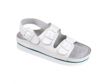 Pánské sandály bílé kožené Cork Megi