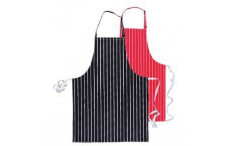 Zástěra pánská kuchařská/řeznická černá s proužkem