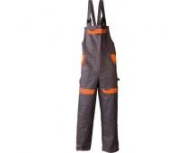 Pracovní kalhoty s laclem COOL TREND šedo-oranžové