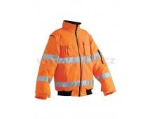 Reflexní bunda LEEDS 2v1 oranžová, zimní