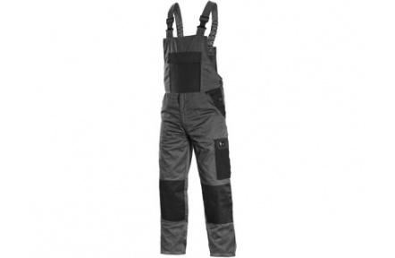 Pracovní kalhoty PHOENIX CRONOS s laclem, šedo-černé