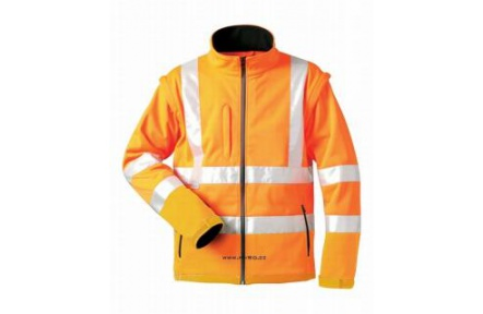 Reflexní bunda SEATON, softshellová oranžová