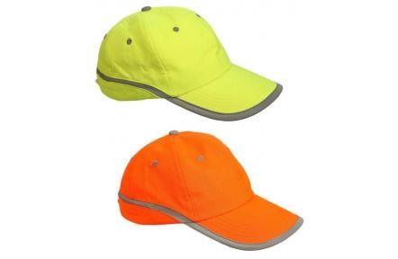 Kšiltovka TAHR reflexní žlutá/oranžová