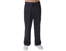 Kuchařské kalhoty DÁMSKÉ, černé s bílým proužkem