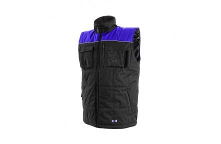 Pracovní vesta zateplená SEATLE černo-modrá
