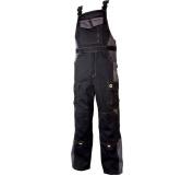 Pracovní kalhoty s laclem VISION černo-šedé