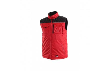 Pracovní vesta zateplená SEATLE červeno-černá