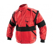 Pracovní bunda LUX EDA červeno-černá