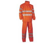 Reflexní oděv do deště YORK oranžový nepromokavý