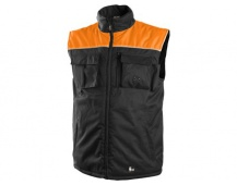 Pracovní vesta zateplená SEATLE černo-oranžová