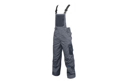 Pracovní kalhoty 4TECH s laclem šedé 194cm