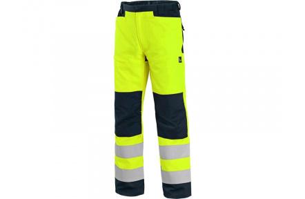 Kalhoty CXS HALIFAX, výstražné, pánské, žluto-černé