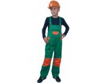 Dětské montérky PINOCCHIO zeleno-oranžové