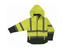 Reflexní bunda DERBY, softshellová žlutá