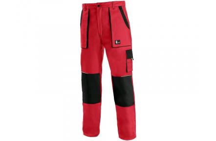 Pracovní kalhoty CXS LUXY Josef, červeno-černé
