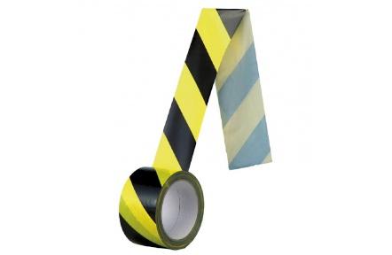 Bezpečnostní páska samolepící žluto-černá - 60mm