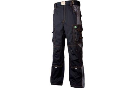 Pracovní kalhoty do pasu VISION černo-šedé