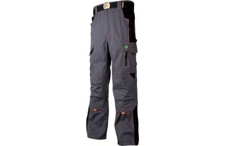 Pracovní kalhoty do pasu VISION šedo-oranžové