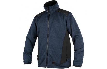 Pletená bunda GARLAND, modro-černá