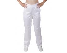 Bílé kalhoty dámské, do gumy