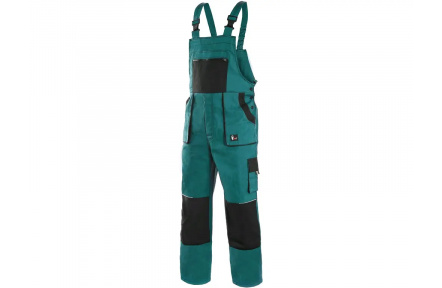 Pracovní kalhoty lacl LUXY ROBIN, zeleno-černé