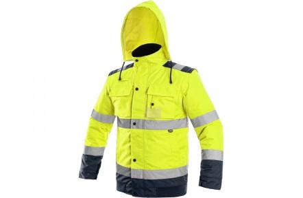 Reflexní bunda LUTON 2v1 žlutá, zimní
