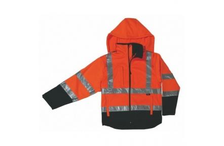 Reflexní bunda DERBY, softshellová oranžová