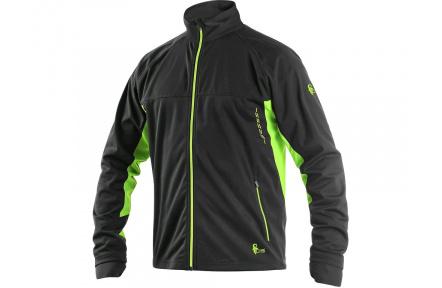 Softshellová bunda CXS Jersey černo-zelená