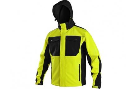 Softshellová bunda TULSA, žluto-černá