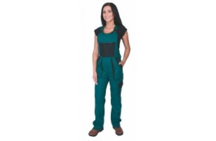 Pracovní kalhoty dámské s laclem LUX SABINA zelené