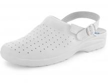 Dámské sandály bílé s plnou špicí MISA
