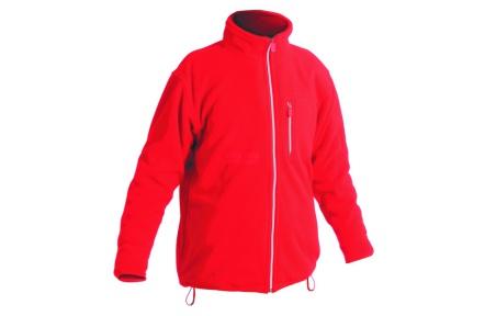 Fleecová mikina KARELA červená