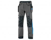 Kalhoty CXS NAOS pánské, šedo-černé, HV modré doplňky