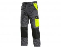 Pracovní kalhoty pas PHOENIX CEFEUS, šedo-žluté