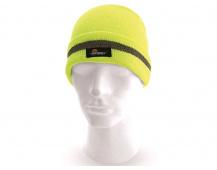 Reflexní zimní čepice CXS Keady, žlutá