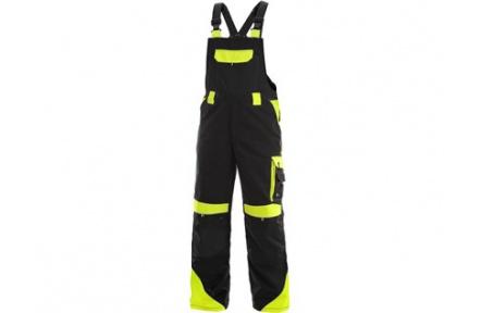 Pracovní kalhoty s laclem SIRIUS Brighton černo/žluté