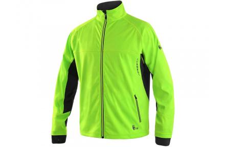 Softshellová bunda CXS Jersey zeleno-černá