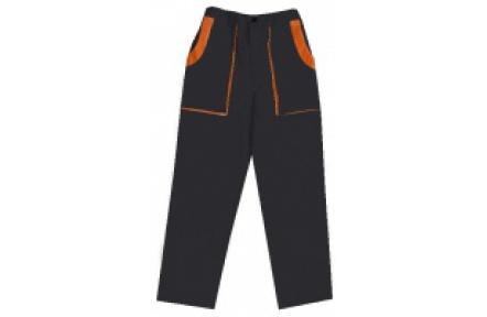 Pracovní kalhoty do pasu LUX JOSEF černo-oranžové