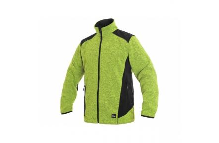 Pletená bunda GARLAND, zeleno-černá