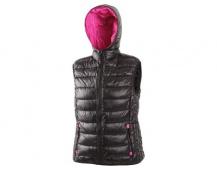 Dámská zimní vesta OMAK černo-růžová