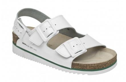 91014ebbe680 Dámske sandále BENNON Horse biele na kline - PRACOVNÉ ODEVY ...
