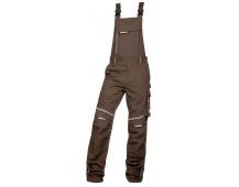Pracovní kalhoty s laclem URBAN+ hnědé