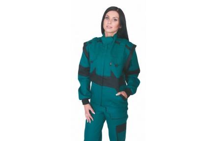 Pracovní bunda dámská LUX DIANA zelená