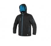 Softshellová bunda DURHAM černo-modrá