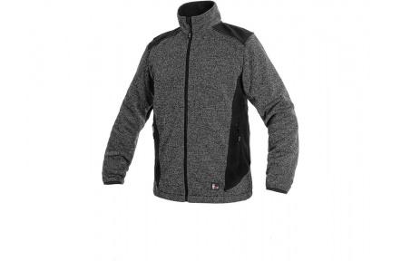 Pletená bunda GARLAND, šedo-černá